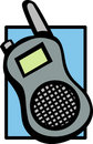 Mobile shortwave radio vector illustration Royalty Free Stock Images