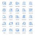 Mobile Technology Flat Icons Pack Royalty Free Stock Photo