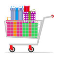 Mobile trolley with gifts