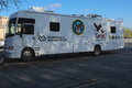 Mobile vet center an example of deployed by department of veterans affairs in the usa to provide treatment and readjustment Royalty Free Stock Photography