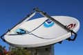 Mobile weather communications dish sharp image of very useful for new stories about radar tornados etc Stock Photos