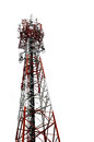 Mobilephone tower isolate on white background Stock Photography