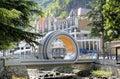 Mobius Loop bridge in Borjom-Kharagauli National Park. Royalty Free Stock Photo