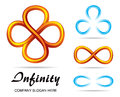 Mobius strip set of design symbols of infinity Stock Image