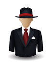 Mobster avatar on white background Stock Photo