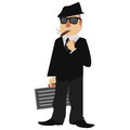 Mobster image of a cartoon style Stock Photo
