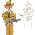 Mobster Man Stock Images