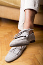 Moccasins shoes man s style and Royalty Free Stock Images