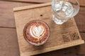 Mocha art late coffee Royalty Free Stock Photo