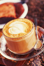 Mocha on beans close up coffe with biscuits the coffee Royalty Free Stock Image