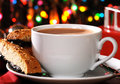 Mocha latte at Christmas time Royalty Free Stock Photos