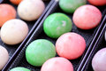 Mochi colorful Japanese dessert Royalty Free Stock Photo