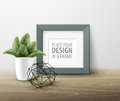 Mock up frame Wall of the interior background. Vector illustration Royalty Free Stock Photo