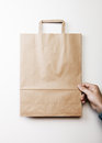 Mock up of paper bag Royalty Free Stock Photo