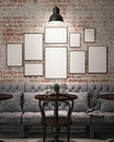 Mock up poster frames Royalty Free Stock Photo