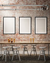 Mock up posters frames Royalty Free Stock Photo