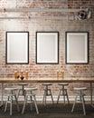 Mock up posters frames