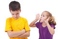 Mocking and teasing among children Royalty Free Stock Photography