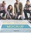 Mockup Object Imitate Model Replica Design Reproduce Concept Royalty Free Stock Photo