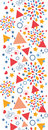 Modèle sans couture vertical de célébration abstraite Images libres de droits