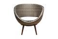Moddern wicker chair modern brown on white background Stock Photos
