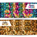Mode label over geometric background vector illustration Royalty Free Stock Photography