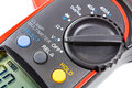Mode switch of digital clamp multimeter closeup Royalty Free Stock Photo