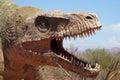 The model of a dinosaur head Royalty Free Stock Photo