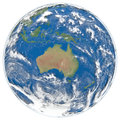 Model of Earth facing Australia Royalty Free Stock Images