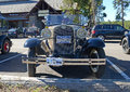 Model a ford in parking lot yellowstone national park wyoming circa september the successor of the t was one of the best selling Royalty Free Stock Image