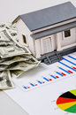 Model house and chart Stock Photos