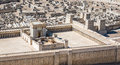 Model of Jerusalem Temple from First Century C.E. Royalty Free Stock Photo
