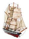 Model of sailing frigate. Stock Photos
