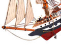 Model of sailing frigate. Royalty Free Stock Photos