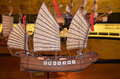 Model of ship with sails Royalty Free Stock Image