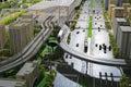 Model of urban mass transit system Royalty Free Stock Photo