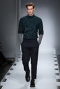 A model walks the runway at the nautica men s fall fashion show new york ny february during new york week Stock Images
