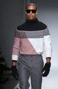 A model walks the runway at the nautica men s fall fashion show new york ny february during new york week Stock Photo