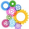 Modeling bright gear wheels background