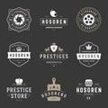Modelli d annata di progettazione del logos messi elementi di progettazione di vettore logo elements Immagine Stock