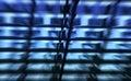 Modelo abstracto azul Fotos de archivo