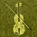 Modelo de la música country - violín Imagenes de archivo