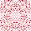 Modelo de los corazones Fotos de archivo