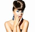 Modelo de moda girl portrait Foto de archivo libre de regalías