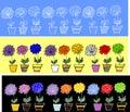 Modelos inconsútiles de Flowers.ribbons Imagen de archivo
