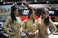 Models at a Bangkok Motor Show Stock Images