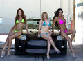 image photo : Models at the Car Wash