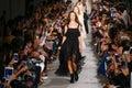 Models walk the runway finale during the philosophy di lorenzo serafini fashion show milan italy september as part of milan Stock Photo