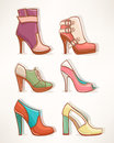 Models of womens shoes Royalty Free Stock Photo