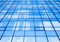 Moder office facade with blue glass perspective Royalty Free Stock Photos